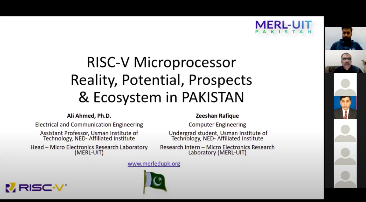 RISC-V Awareness Webinar From Dr. Ali Ahmed and Zeeshan Rafique from UIT | Micro Electronics Research Lab -UIT