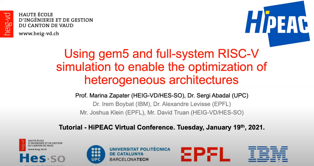Using gem5 and RISC-V simulation to enable the optimization of heterogeneous architectures |  HiPEAC