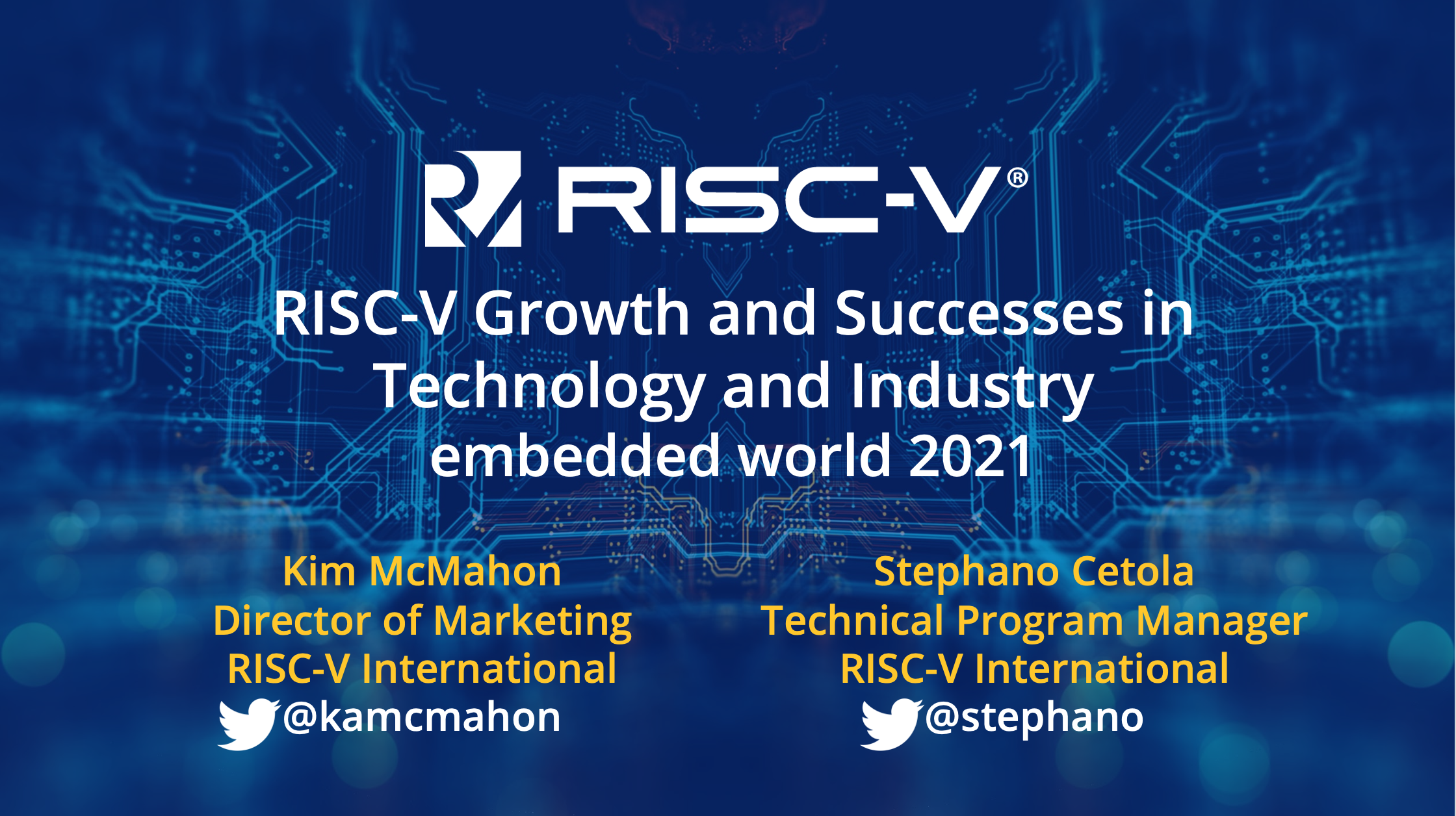 RISC-V growth and successes in technology and industry : embedded world 2021