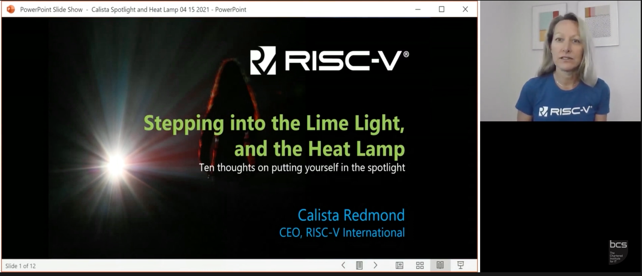 Stepping into the lime light and the heat lamp – ten thoughts on putting yourself into the spotlight | Calista Redmond