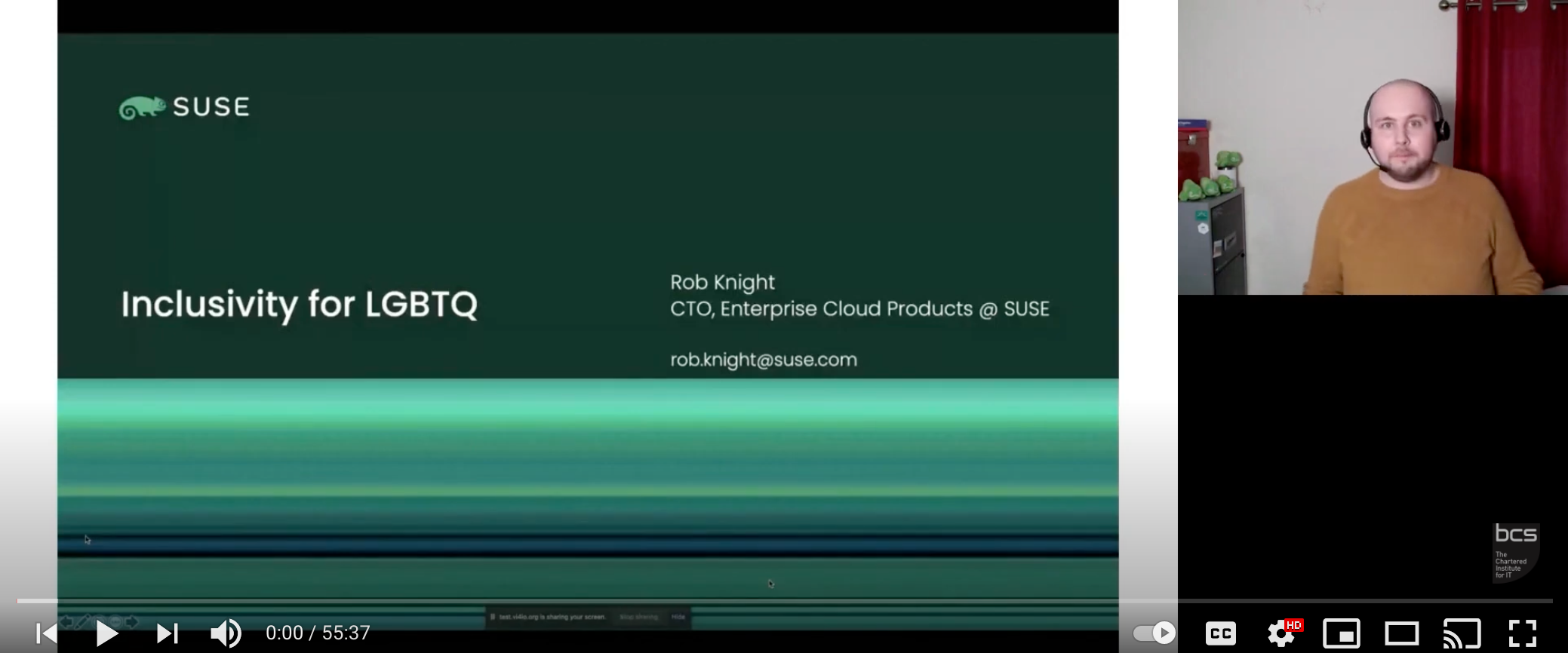 Inclusivity in Open Source: Inclusivity for LGBTQ | Rob Knight, CTO, Enterprise Cloud Products at SUSE